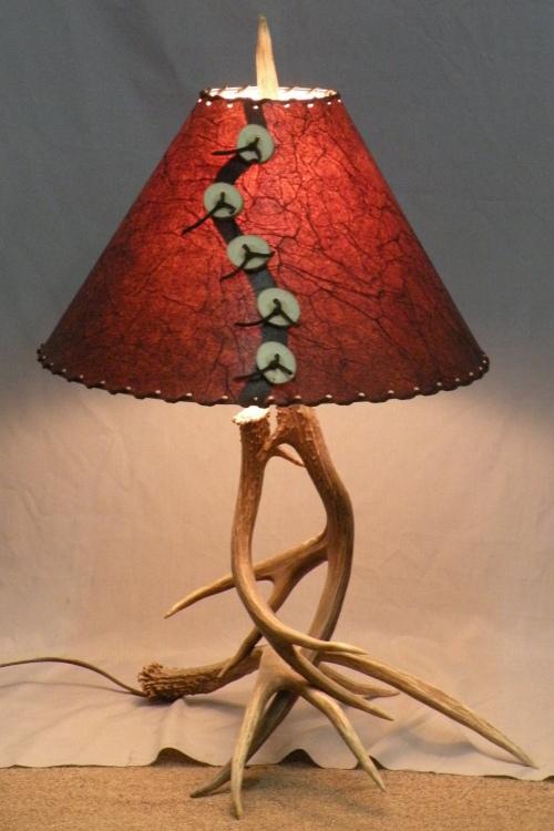 Mule Deer Antler Table Lamp Small