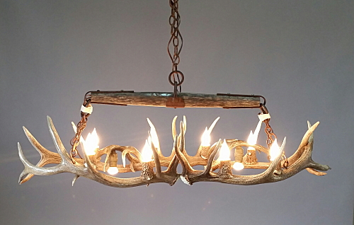 Snowm Antler Chandelier Elk And Timber Small Oval